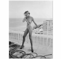 HELMUT NEWTON - ROOF TOP NUDE