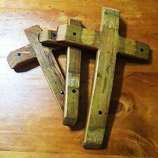 Wine Barrel Stave Hanging Crosses Set Home Decor Furniture Crafts Sculpture