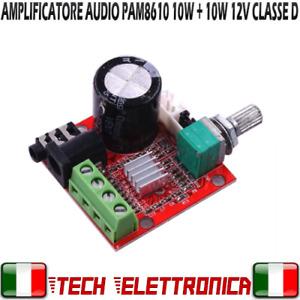 MODULO AMPLIFICATORE PAM8610 AUDIO 2 x 10W class D 12V PAM 8610