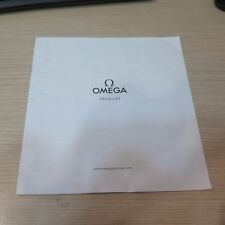 Omega 2015 Pricelist Retail Recommended Prices CHF 8 Double Sided Pages