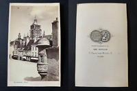 Dufour, Dijon, rue Longepierre Vintage albumen print CDV.  Tirage albuminé