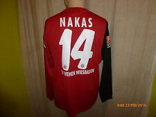 SV Wehen Wiesbaden Nike Langarm Matchworn Trikot 2008/09 + Nr.14 Nakas Gr.L