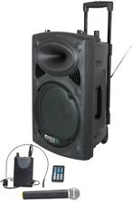 IBIZA PORT15UHF Sound Beschallungsanlage DJ Box Bluetooth USB Akku Mikrofon MP3