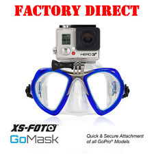 GoPro Diving Mask -BLUE- Built-in Stainless Steel Camera Mount-GoMask by XS Foto