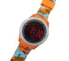Orologio Da Polso Touch Led Watch Orario Rosso Fashion Moda Camouflage Ara lac