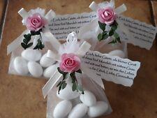 Mandeln Rosa/Creme Gastgeschenke Taufe Kommunion Hochzeit Tischdeko mit Spruch