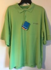 Columbia Pfg Perfect Cast Upf 30 Polo Shirt Large Lime Green $40 for $18 Nwt