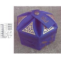 Petal Hexagon Storage Gift Box Paper Card Crafts Embossing Metal Cutting Dies