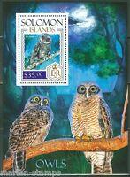SOLOMON ISLANDS  2013  OWLS  SOUVENIR SHEET  MINT NH