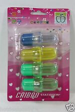 4 PACK OF LIGHT BULB PENCIL SHARPENERS ASSORTED COLORS HOME OFFICE SCHOOL