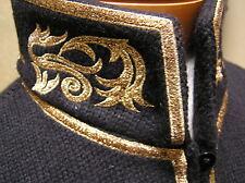 NWT Ralph Lauren wool blend Mock Neck Military jacket blazer w/gold embroidery M
