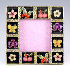 NEW RUCINNI CRYSTALS DECORATIVE ORNAMENTS INLAID SQUARE METAL PICTURE FRAME