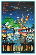 "DISNEY COLLECTOR'S POSTER 12"" X 18"" - TOMORROWLAND - WALT DISNEY WORLD"