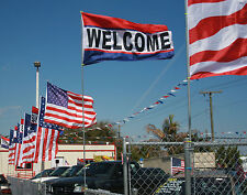 """50 WELCOME FLAGS 3' X 5' 36"""" X 60""""  LOT WHOLESALE BEST PRICE FREE SHIPPING"""