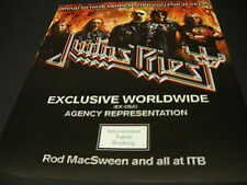 Judas Priest repped for 25 years by Itb 2009 Promo Display Ad mint condition