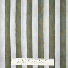 Military Patriotic Fabric - Taupe & Olive Green Stripe - RJR Dan Morris 33""