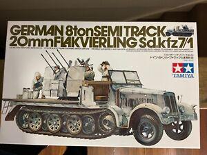 Tamiya 35050 1/35 Model Kit German 8Ton Semi-Track 20mm Flakvierling Sd.kfz 7/1