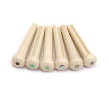 Graph Tech Tusq Traditional White/Paua Shell Acoustic Bridge Pins PP-1182-00