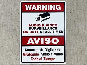 Audio Video Surveillance Sign METAL (CCTV Security Warning)