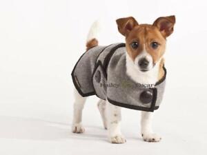 "Hailey & Oscar Wool Dog Coat Blazer New XS 10-13"" Chest. Grey RRP £25. Buy £12"