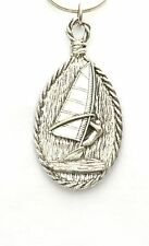Windsurfing surfer & board key ring New Pewter Gift