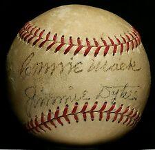 1950 CONNIE MACK Signed OAL Baseball HOF Auto Philadelphia Athletics Team vtg