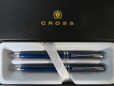 Cross Executive Companion Blue Lacquer Ballpoint Pen & 0.7MM Pencil Set $79.00