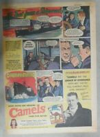 WW 2 Camel Cigarette Ad: Hudson River Freighter Pilot! Size: 11 x 15 inches
