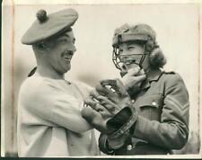 Auxiliary Territorial Canadian Service Girl Learns Baseball Wwii