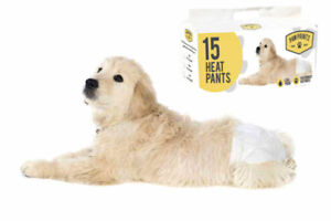 Pack Of 15 Disposable Elasticated Female Dog Nappies Seasonal Heat Pads S,M,L