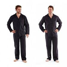 Papa Jams THOMAS Mens Striped/Checked Button Fastening Matching Pyjama Set