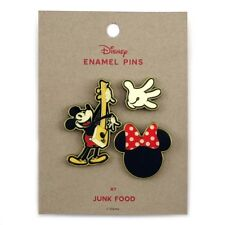 Junk Food Mickey Mouse Button/Pin Set, Fun Collectibles~