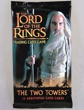 4x Booster Lord of  the Rings the Two Towers Spielkarten, Sammelkarten