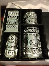 4 Piece Neiman Marcus Silver Plated Condiment Holders MIB