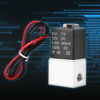 """1/8"""" 2 Way Normally Closed Pneumatic Aluminum Electric Solenoid Air Valve 12V DC"""