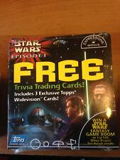 Star Wars Episode I Hallmark Trivia Trading Cards Topps 1999 Widevision