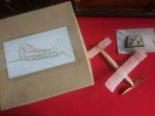 Balsa Wood and Paper Aircraft Model