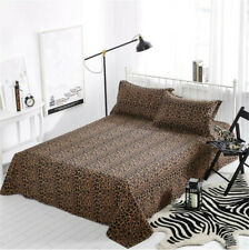 Leopard Print Flat Sheet 100% Cotton Bedding (Not Include Pillowcases)