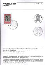 ITALIA 2002 FRANCOBOLLI DUCATO DI MODENA  BOLLETTINO COMPLETO DI FRANCOBOLLI FDC