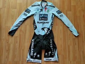 Team Saxobank 2010 Mens Long Sleeve Cycling Skinsuit Sportful Size: M NEW!