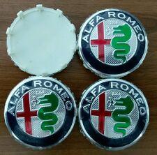 Set of 4pcs Alfa Romeo 60mm NEW DESIGN HUB CAPS  emblem 159, Mito, Giulietta 166