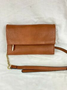 INC Averry Tunnel Brown Crossbody Shoulder Bag Convertible Clutch NEW Brown NWOT