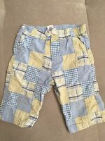 Baby Boy Gap Light Lined Pants Size 3-6 Month Blue Yellow