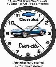 1965 CHEVROLET CORVETTE COUPE WALL CLOCK-Mustang-Camaro-Challenger