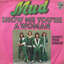 """7"""" 1975 GLAM ! MUD : Show Me You´re A Woman / MINT-?"""