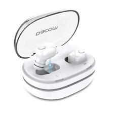 White Dacom Twins True Wireless Bluetooth Stereo Headset In-Ear Earphone Earbuds