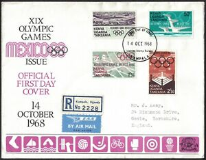 KUT, 1968, XIX OYMPIC GAMES, ILLUSTRATED FIRST DAY COVER.