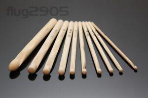 Häkelnadel Set Bambus 4 - 12mm Länge 15cm Häkelnadeln zpagetti