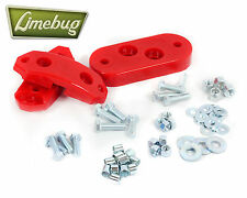VW T1 Beetle 61-72 Poly Urethane Gearbox Trans Mount Kit w/ Hardware Red Scat