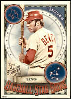 Johnny Bench 2019 Allen and Ginter Baseball Star Signs 5x7 #BSS-32 /49 Reds